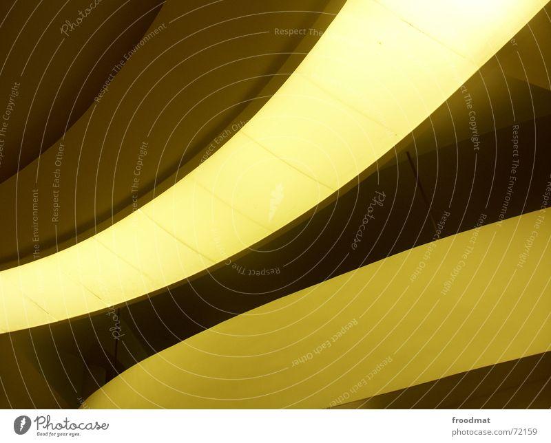 schwung gelb Licht sehr wenige Brasilien Rio de Janeiro graphisch oskar niemeyer hochgeschaut niteroi Architektur