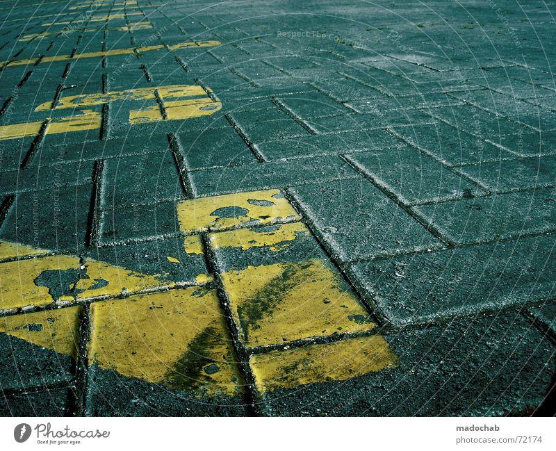 PHÄT! | zahlen gelb style boden steine struktur muster pattern Muster Stein Stil 2 Schilder & Markierungen Ordnung Schriftzeichen Bodenbelag