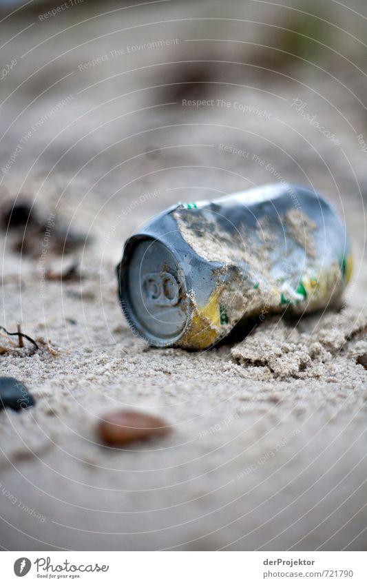 Strand(un)gut Natur Ferien & Urlaub & Reisen Landschaft Umwelt Herbst Küste Insel Urelemente Ostsee Müll Zukunftsangst Sorge Sandstrand Klimawandel Dose Umweltverschmutzung