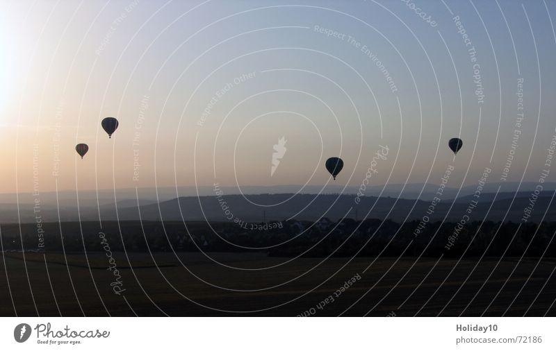 Ballonfahrt Himmel Stimmung Hintergrundbild Ballone