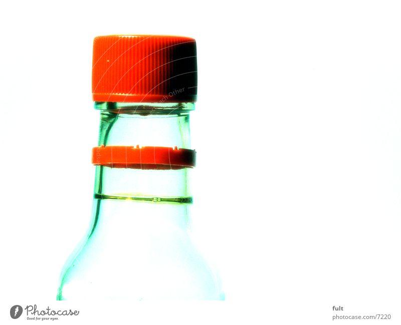 flasche Flaschenhals durchsichtig geschlossen Getränk Dinge Verschluss Gully Glas Klarheit Kunststoff Kreis tranzparent genießen Strukturen & Formen Gefäße