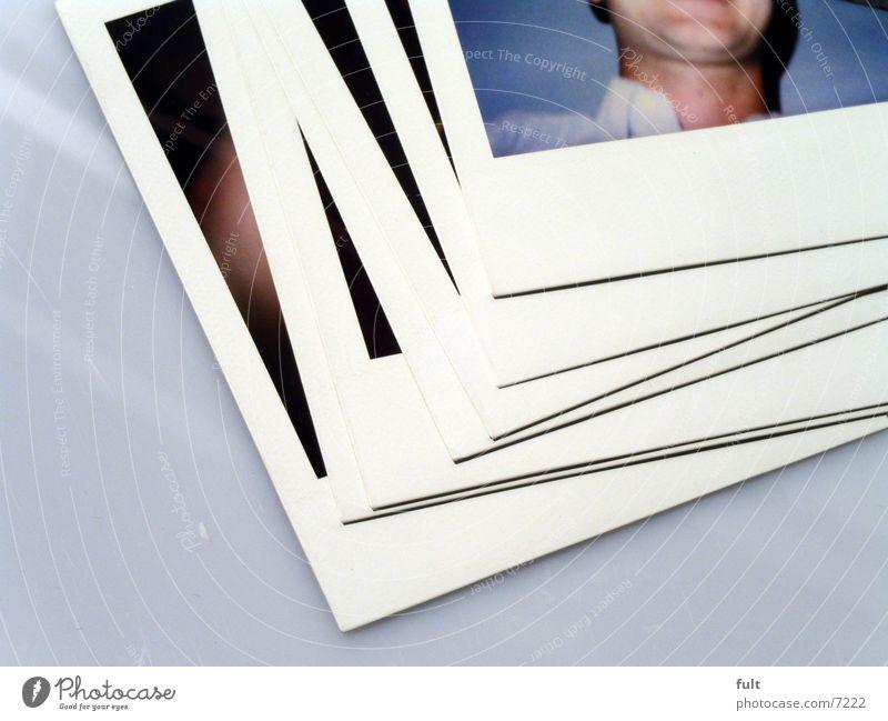 fotos2 Fotografie Stil Stapel aufeinander Mann Dinge Polaroid Bild liegen Hals lachen Mensch fult5000 Makroaufnahme Nahaufnahme