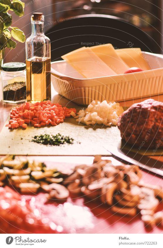 Mamma mia grün rot gelb Gesunde Ernährung natürlich Lebensmittel Ernährung Kochen & Garen & Backen Küche Gemüse Kräuter & Gewürze lecker Bioprodukte Fleisch Messer Mittagessen