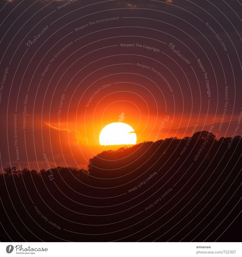 Schwarzwaldsonne Ferne Sommer Berge u. Gebirge Natur Landschaft Himmel Wolken Horizont Sonne Sonnenaufgang Sonnenuntergang Klima Wetter Baum Wald Hügel leuchten