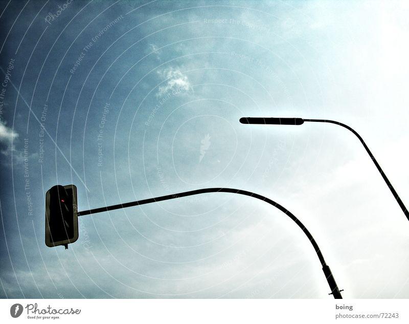 Rossfettmarmelade - Vielfalt schrumpft zur Einfalt Verkehr Sicherheit gefährlich Laterne Ampel Straßenbeleuchtung Halt Biedermeier