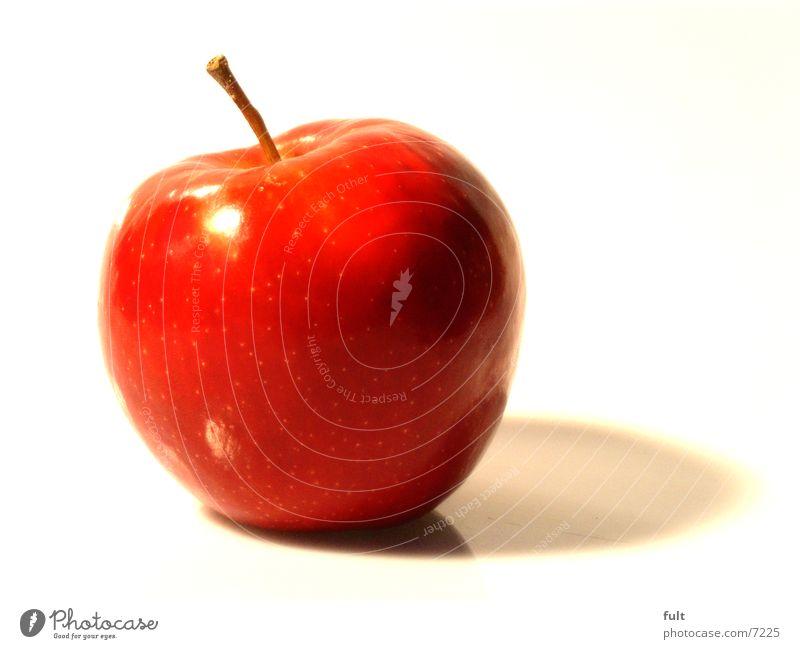 apfel rot frisch Gesundheit Ernährung Vitamin knackig rund lecker gepflückt Reflexion & Spiegelung Apfel Natur Makroaufnahme Vegetarische Ernährung Lebensmittel