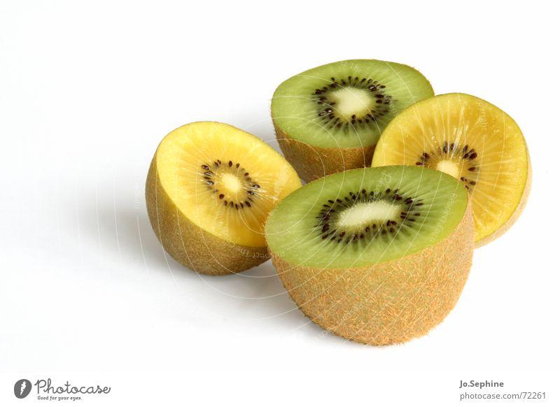 Kiwi II grün weiß Sommer gelb Gesundheit Frucht Lebensmittel frisch Ernährung Wellness Teilung Erfrischung Hälfte Diät Kerne Fruchtfleisch