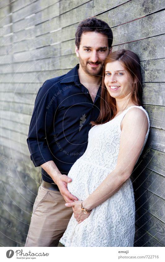 <3 Mensch Jugendliche 18-30 Jahre Erwachsene Leben Liebe feminin Glück Paar maskulin Familie & Verwandtschaft Wachstum Lebensfreude Partner Bauch schwanger
