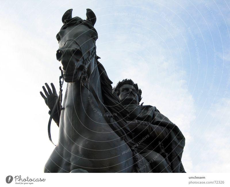 Carl August Himmel Deutschland Pferd Kultur Denkmal Statue Wahrzeichen König Regierung Weimar loyal Thüringen Altertum