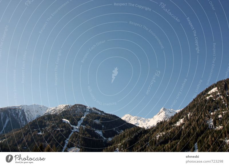 Brunnalm Landschaft Urelemente Wolkenloser Himmel Klima Schönes Wetter Schnee Alpen Berge u. Gebirge Schneebedeckte Gipfel Österreich Ferien & Urlaub & Reisen
