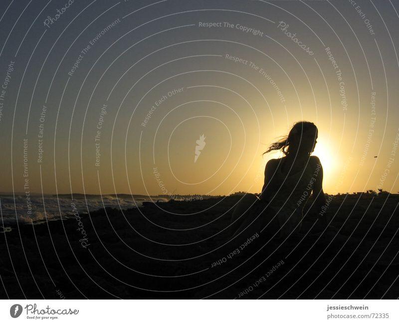 Der Sonne entgegen... Zypern Strand Sonnenuntergang Meer Griechenland Wellen ayia napa Sand Wasser Mittelmeer Abend Weste tina Wind