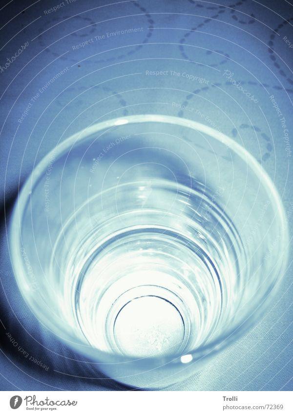 Tornado blau Eis hell Glas rund geheimnisvoll tief
