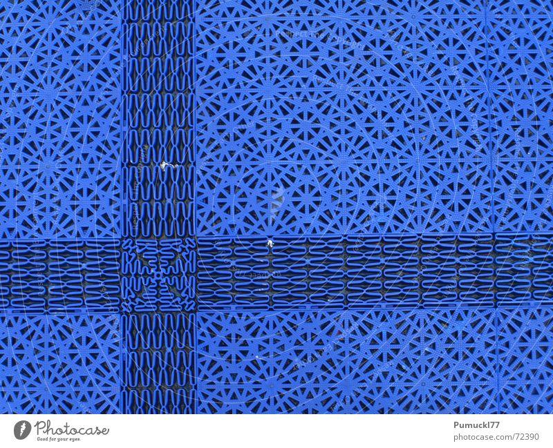 Blue Stars Matten Muster Quadrat Raster Gitter Gummi Mitte horizontal vertikal Bodenbelag blau Rücken Kunststoff Stern (Symbol) modular Linie Verabredung