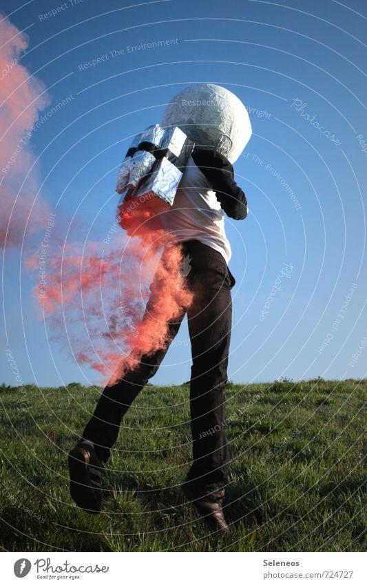 Gasentwicklung Ausflug Abenteuer Ferne Freiheit Technik & Technologie Wissenschaften Fortschritt Zukunft High-Tech Industrie Luftverkehr Raumfahrt Mensch 1