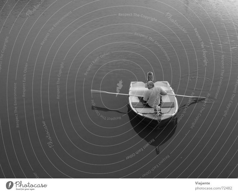 Der Weg ist das Ziel XXIV ff Wasser Einsamkeit ruhig Erwachsene Erholung See Wasserfahrzeug Zufriedenheit Freizeit & Hobby einzeln Im Wasser treiben Teich