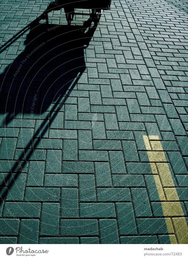 STREET | strasse street concrete muster schatten shopping gelb Straße Stein Metall Linie Schilder & Markierungen Design Perspektive Streifen
