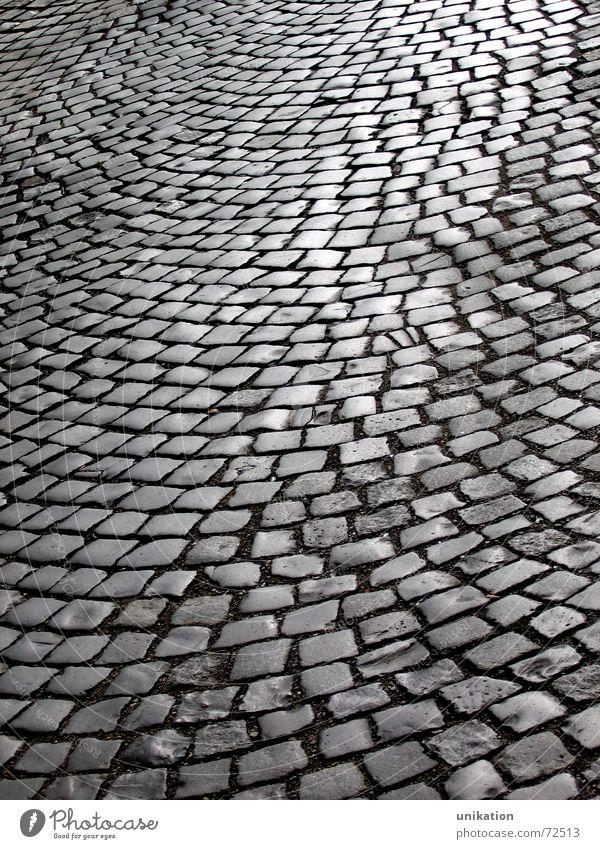 Straßenmosaik Kopfsteinpflaster Straßenbelag pflastern Muster Mosaik Stein Wege & Pfade Schatten Strukturen & Formen Pflastersteine