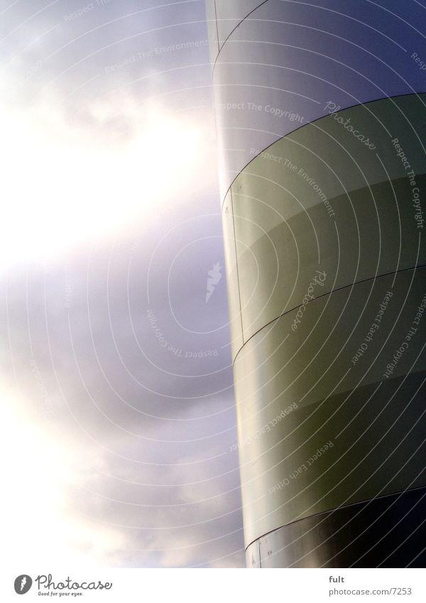 metall Natur Himmel weiß grün Wolken Farbe Luft Metall Design Industrie rund Windkraftanlage Teilung Erneuerbare Energie umweltfreundlich dunkelgrün