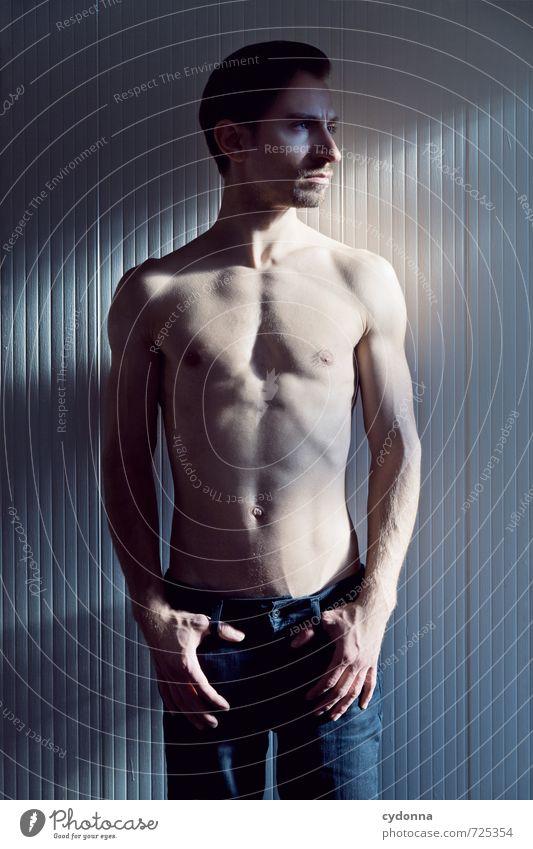 HALLE/S TOUR | Licht & Schatten Mensch Jugendliche Mann schön nackt Männlicher Akt ruhig 18-30 Jahre Junger Mann Erotik Erwachsene Wand Leben Mauer Stil Körper