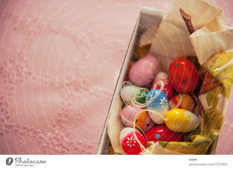 Klein, bunt und rund ... schön Frühling klein Glück natürlich Feste & Feiern rosa Kindheit Dekoration & Verzierung authentisch Fröhlichkeit Kreativität niedlich einzigartig rund Ostern