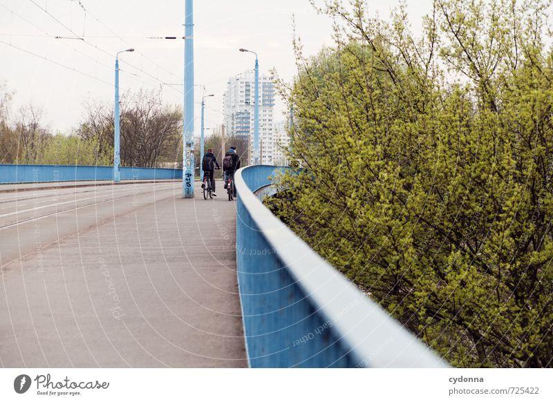 HALLE/S TOUR | Unterwegs Leben Freizeit & Hobby Bildung lernen Student Mensch Mann Erwachsene 2 Umwelt Landschaft Stadt Hochhaus Brücke Verkehr Verkehrswege