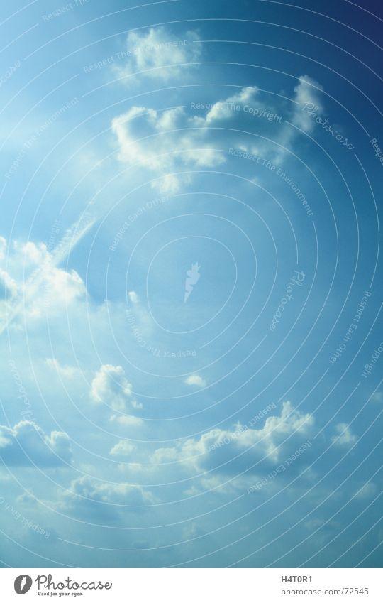 Skydom Himmel blau Wolken Ferne Freiheit leer Dach Kitsch himmlisch Paradies Gott Hölle Götter