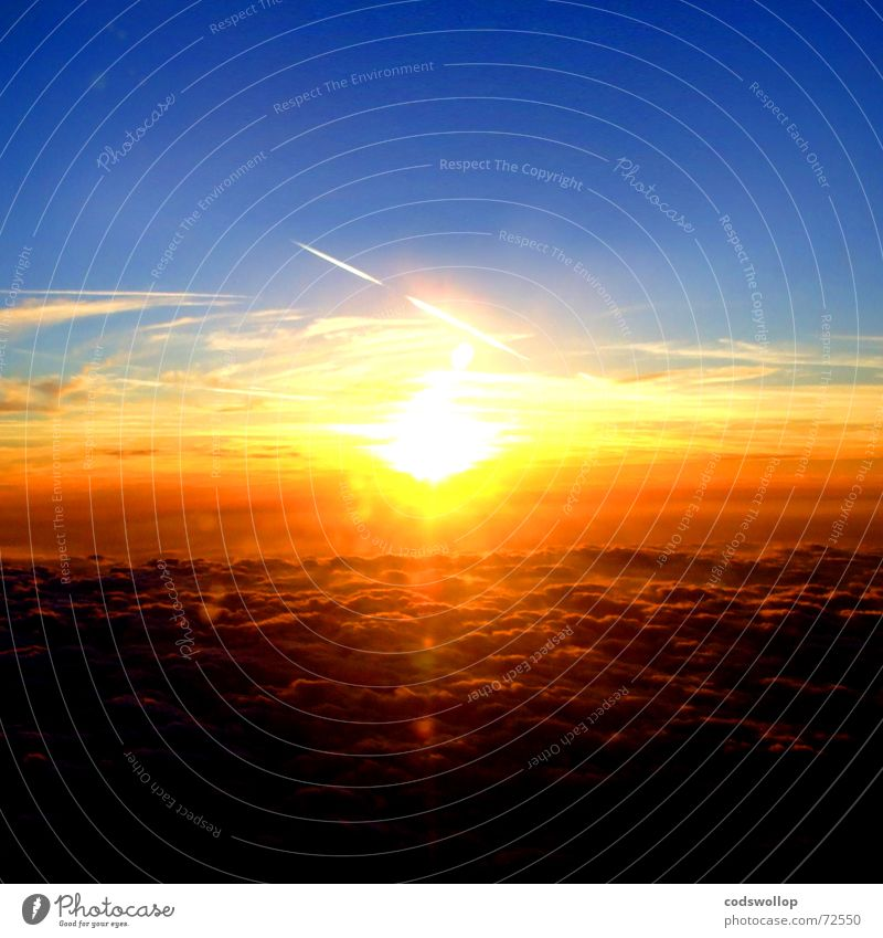 Set The Controls For the Heart Of the Sun Himmel blau Sommer Sonne gelb träumen orange Klima Schönes Wetter ästhetisch Himmelskörper & Weltall nur Himmel