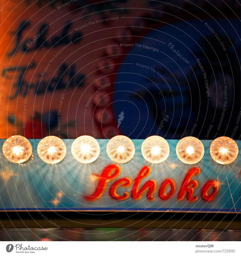 Schoko! Kunst ästhetisch Jahrmarkt Schokolade Schokoladenkuchen Schokoladeneis Werbung Lampe Buden u. Stände Vergnügungspark Weihnachtsmarkt