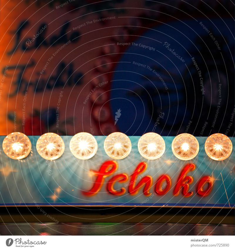 Schoko! Weihnachten & Advent Kunst Lampe Ernährung ästhetisch retro lecker Süßwaren Appetit & Hunger Werbung Jahrmarkt Schokolade Diät Werbebranche