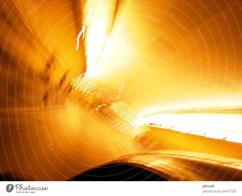 tunnellicht gelb Geschwindigkeit Tunnel Fototechnik wackelig