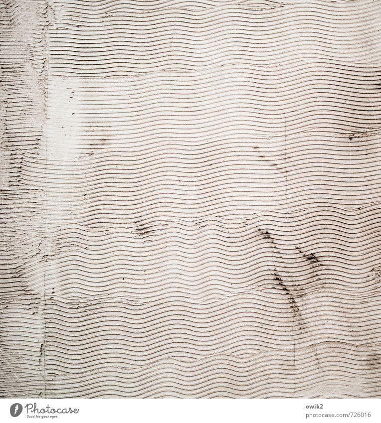 Wellengang Wand Mauer Stil Fassade Design einfach Textfreiraum Wellenform Putzfassade Wellenlinie