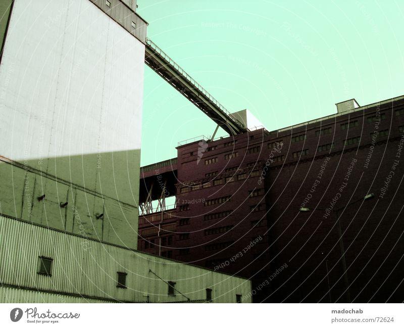 FUCK TOO LATE | hochhaus gebäude architektur brücke Haus Hochhaus Gebäude Material Gleichgültigkeit Fenster live Block Beton Etage trist dunkel Leidenschaft