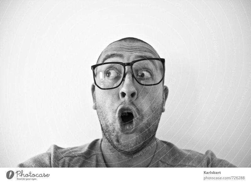 Say What? Mensch Jugendliche Mann 18-30 Jahre Erwachsene Auge Kopf maskulin Musik Studium lernen Brille Neugier Bildung Wissenschaften Erwachsenenbildung