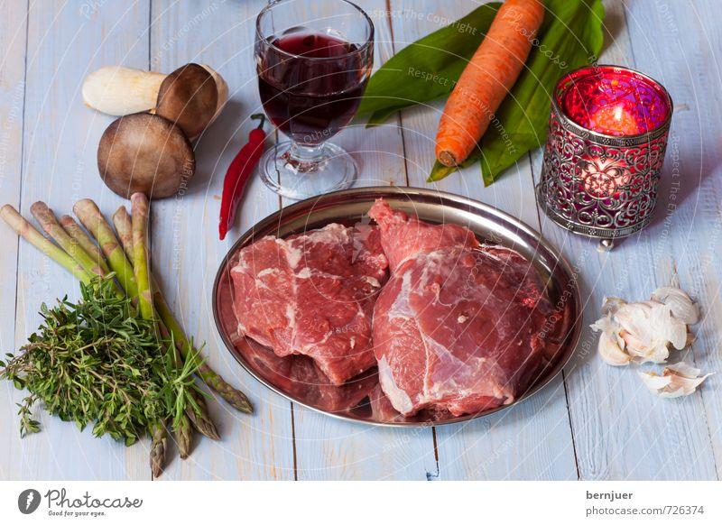 Osterlamm blau rot Lebensmittel Glas Kochen & Garen & Backen Kerze gut Wein Gemüse Bioprodukte Teller Schalen & Schüsseln Pilz Fleisch Möhre roh