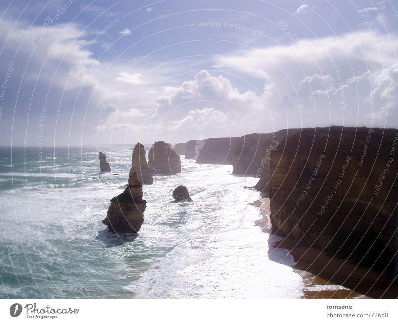 The 12 Apostles Natur Himmel Meer Stimmung Australien Victoria Gesteinsformationen Great Ocean Road