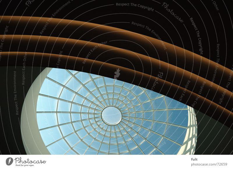 decke Kuppeldach rund Licht Kunst Kaufhaus Fenster Decke Glas Bogen Beleuchtung Strukturen & Formen gibs Ecke verfaulen Münster oben Architektur