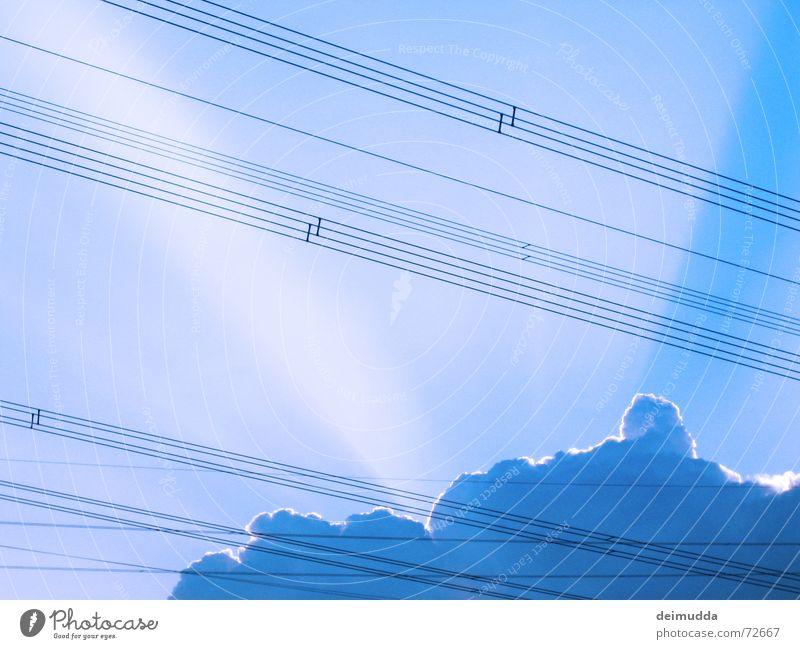 red_sky_2 Himmel blau Sonne Sommer Wolken Wärme hell Kabel Macht Physik Gott Götter