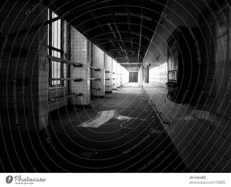 Das Licht am Ende des Tunnels Tod dunkel kalt Angst Perspektive