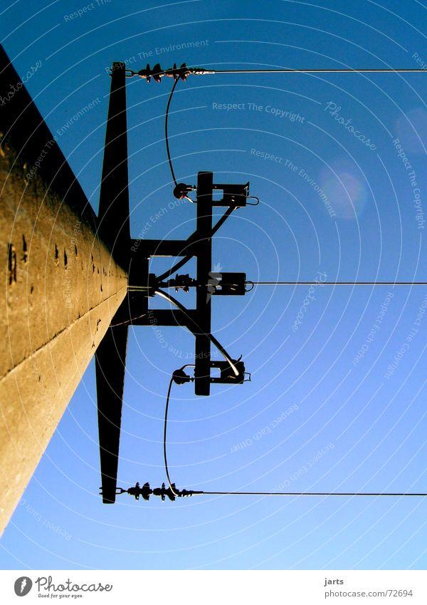 Am Netz Himmel Kraft Industrie Energiewirtschaft Elektrizität Technik & Technologie Strommast Leitung Hochspannungsleitung Elektrisches Gerät