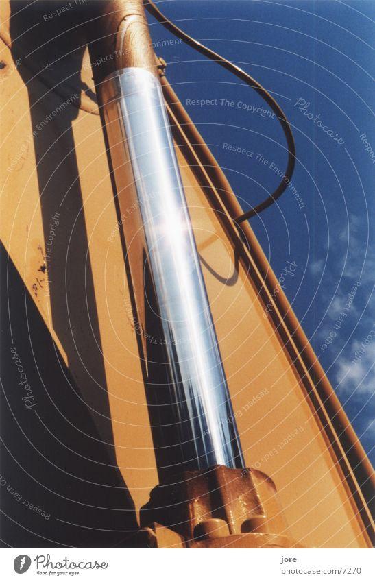 Hydraulikpower Bagger Stahl Kraft glänzend Kontrast Elektrisches Gerät Technik & Technologie hydraulisch
