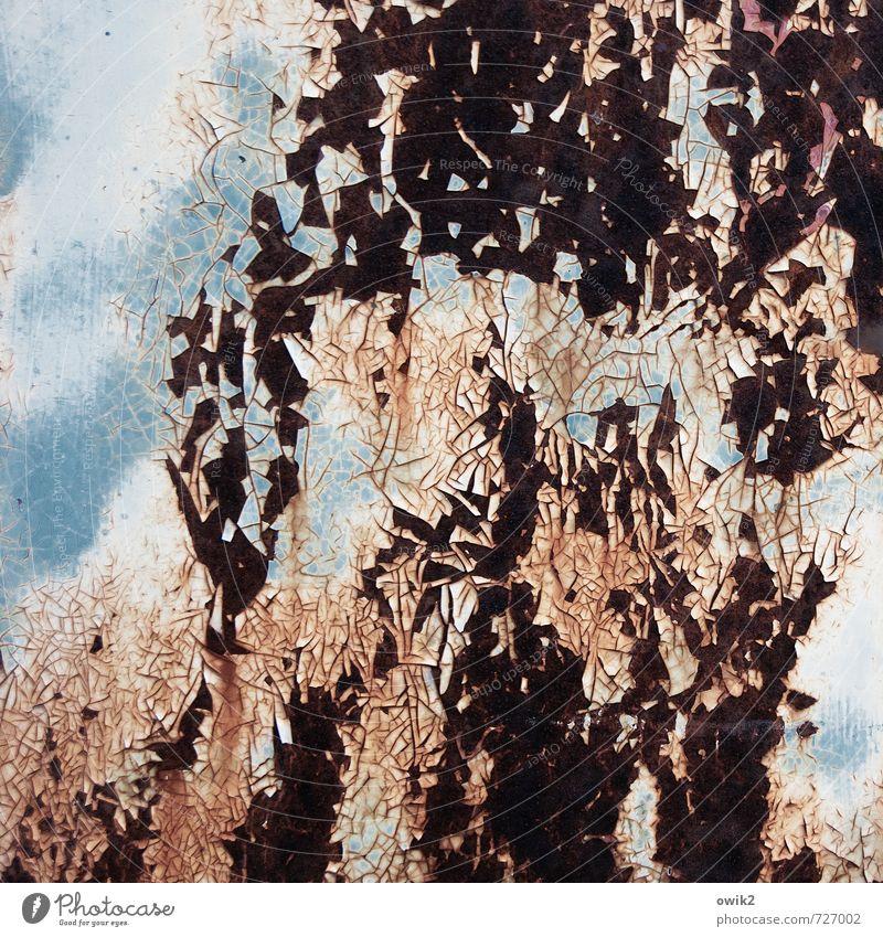 Bruchstück Metall alt trashig Verfall Vergänglichkeit verlieren Wandel & Veränderung Zerstörung Farbstoff Spuren Rost Zahn der Zeit verfallen Riss