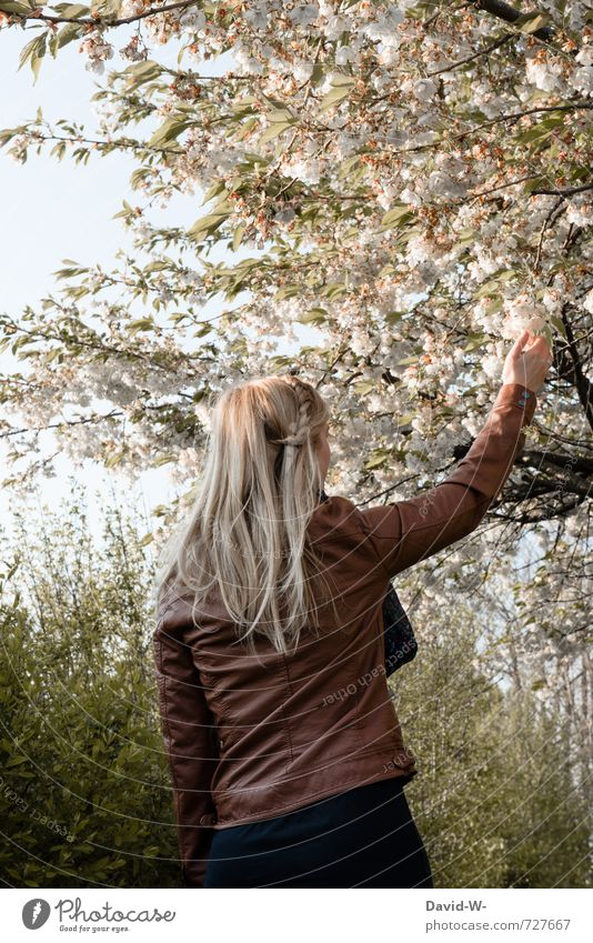 Jahreszeit = F* - S - H - W Glück Haare & Frisuren feminin Frau Erwachsene 1 Mensch 13-18 Jahre Kind Jugendliche 18-30 Jahre Sonnenlicht Frühling Klima