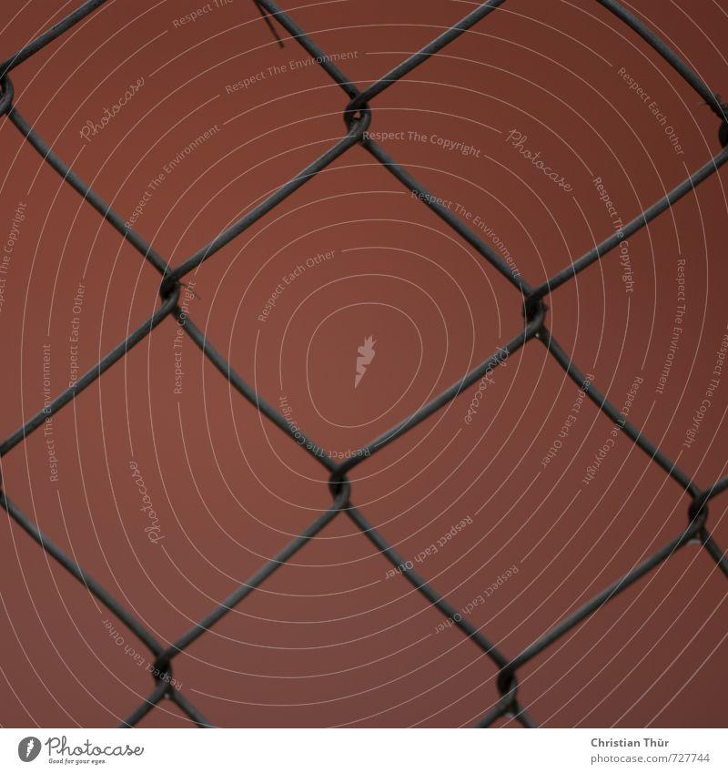 Zaun blau schön Erholung ruhig schwarz Sport Spielen grau Sand braun orange Zufriedenheit ästhetisch Fitness Netzwerk Sportler