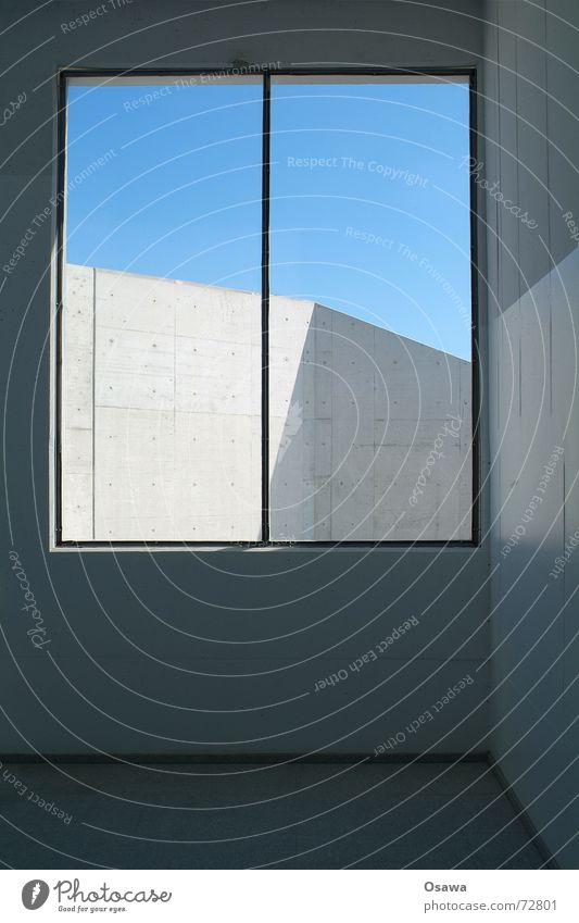 Südkreuz 4 Beton Mauer Fuge einfach Ödland Fenster Aussicht himmelblau südkreuz leer Himmel Schönes Wetter Schatten Architektur