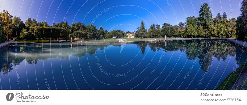 Das Schloss Hellbrunn in Salzburg Ferien & Urlaub & Reisen blau Garten Park Zufriedenheit Tourismus Häusliches Leben Ausflug Wellness Burg oder Schloss