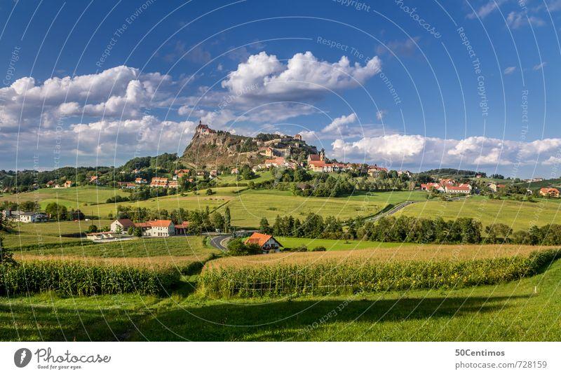 Riegersburg - Felder in der Steiermark Natur Ferien & Urlaub & Reisen Sommer Erholung Landschaft ruhig Wolken Freude Leben Wiese Freizeit & Hobby Tourismus