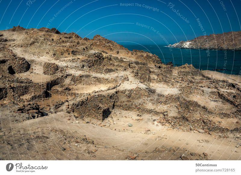 Puerto de Incas, Peru Ferien & Urlaub & Reisen Sonne Meer Einsamkeit Landschaft Ferne Zeit Erde Tourismus wandern Ausflug Abenteuer Hügel Wüste entdecken