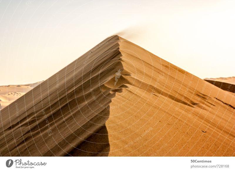 Wind über Wüstendüne Ferien & Urlaub & Reisen Ausflug Abenteuer Ferne Freiheit Safari Expedition Umwelt Natur Klima Klimawandel Wetter Dürre bedrohlich heiß