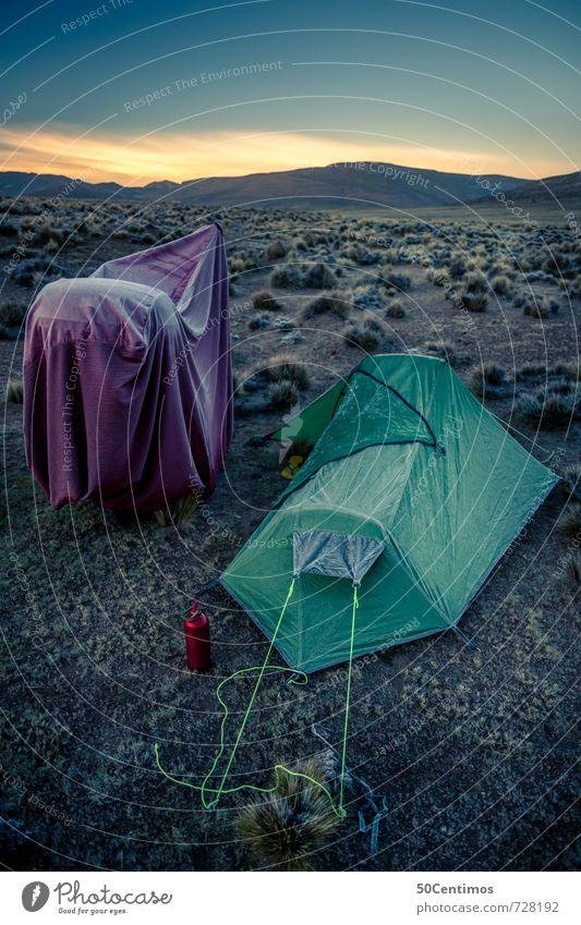 Eiseskälte beim Campen mit dem Motorrad in der Wüste Lifestyle Freizeit & Hobby Ferien & Urlaub & Reisen Ausflug Abenteuer Ferne Freiheit Camping Motorradfahrer