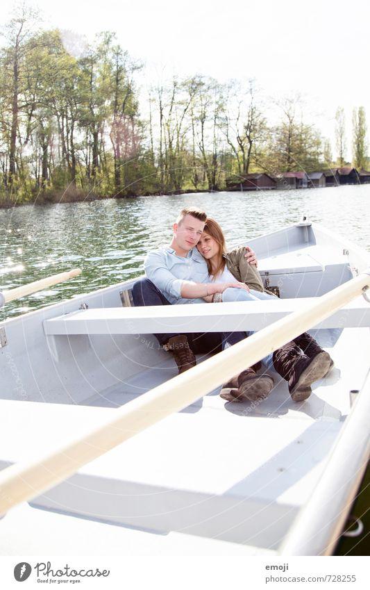 swing Mensch Natur Jugendliche Junge Frau 18-30 Jahre Junger Mann Umwelt Erwachsene feminin Frühling Glück See Paar Freizeit & Hobby maskulin Schönes Wetter